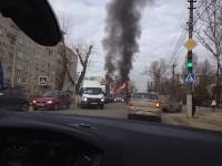 На Одоевском шоссе сгорел дом, Фото: 7