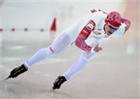Артем Кузнецов (Россия) во время пробных соревнований по конькобежному спорту перед началом XXII зимних Олимпийских игр в Сочи., Фото: 19