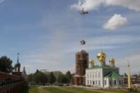 Установка шпиля на колокольню Тульского кремля, Фото: 17