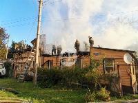 На ул. Баженова в Туле крупный пожар уничтожил жилой дом, Фото: 16