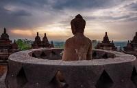 Буддийский храмовый комплекс Боробудур, остров Ява, Фото: 19
