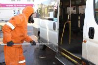 25 пожарных расчетов ежедневно дезинфицируют тульский транспорт и остановки , Фото: 4