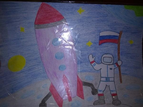 """Корнеев Артём, 5 лет. """"Покорение космоса""""."""