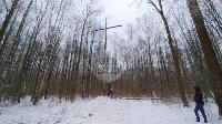 В Тульском лесу нашли загадочную поляну с крестами, елкой и зеркалами, Фото: 8