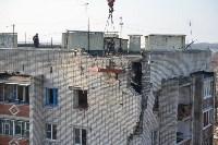 У дома, поврежденного взрывом в Ясногорске, демонтировали опасный угол стены, Фото: 47