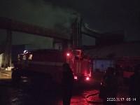 В Ясногорске загорелся склад для хранения зерна, Фото: 10