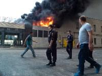 Загорелся недостроенный ТЦ на Красноармейском проспекте, Фото: 29