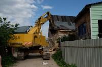 В Плеханово начали сносить дома в цыганском таборе, Фото: 61