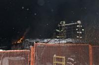 В пос. Менделеевский сгорел частный дом., Фото: 1