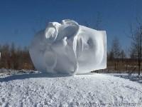 Скульптура победителей фестиваля снежной скульптуры в Китае, Фото: 1