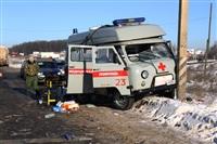 """На трассе М2 автомобиль """"скорой"""" столкнулся с автовозом., Фото: 2"""