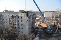 У дома, поврежденного взрывом в Ясногорске, демонтировали опасный угол стены, Фото: 46