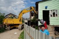 В Плеханово начали сносить дома в цыганском таборе, Фото: 64