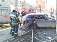 На улице Металлургов Renault Megane после ДТП вылетел на тротуар, Фото: 9