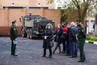 Экспресс-тест на covid-19, маски и социальная дистанция: В Туле первых призывников отправили в армию, Фото: 59