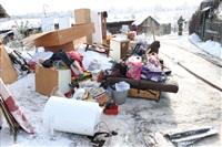 Пожар в жилом бараке, Щекино. 23 января 2014, Фото: 27