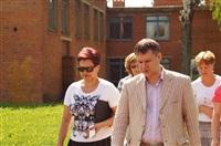 Денис Бычков проверяет школы Тульской области, Фото: 12