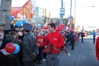 Третий этап эстафеты олимпийского огня: проспект Ленина, Фото: 9