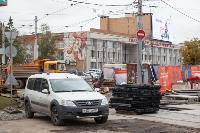 На ул. Советской в Туле убрали дорожные ограждения с трамвайных путей, Фото: 2