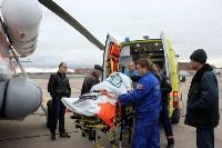 Транспортировка пострадавшего санитарным рейсом МЧС, Фото: 4