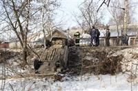 В Скуратово перевернулась иномарка., Фото: 2