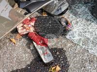 В Туле на ул. Оборонной Renault Logan после ДТП опрокинулся набок, Фото: 4