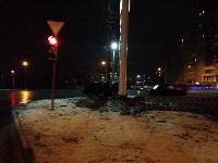 Авария вечером 15 декабря: легковушка врезалась в заправочную стеллу, Фото: 3