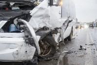 На Рязанском шоссе «Хёндэ» столкнулась с микроавтобусом, Фото: 3