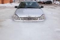 Машина вмерзла в лед, Фото: 5