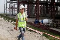 В Туле министр промышленности и торговли РФ  осмотрел  стройплощадку ООО «Тулачермет-Сталь», Фото: 17