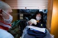 Экспресс-тест на covid-19, маски и социальная дистанция: В Туле первых призывников отправили в армию, Фото: 27