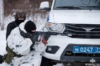 Учения: В Тульской области СОБР и ОМОН обезвредили вооруженных преступников, Фото: 13
