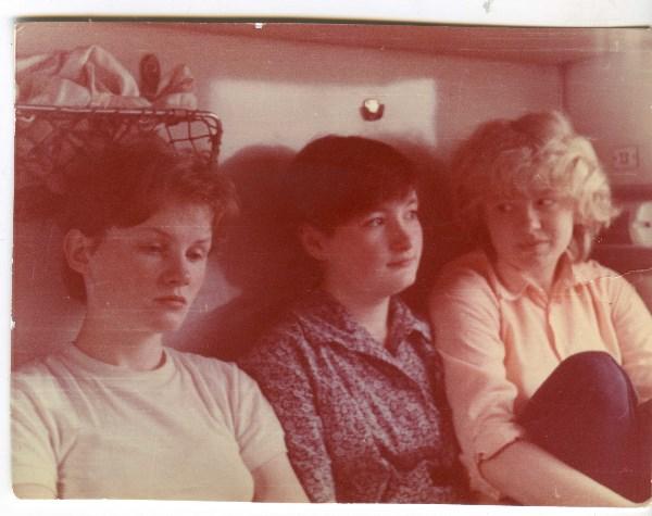 дружим с 1979 года-на фото 1983 год, в поезде Москва-Архангельск