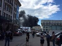 Загорелся недостроенный ТЦ на Красноармейском проспекте, Фото: 3