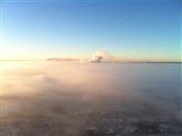 Необычные клубы дыма над заводом. Косая Гора, 21 января 2014, Фото: 14