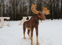 Деревянному лосю восстановили рога, Фото: 3