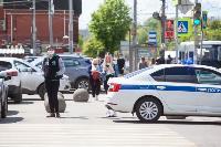 Полицейский рейд в тульских маршрутках: на пассажиров без масок составляют протоколы, Фото: 23