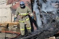 Пожар в цехе производства гробов на Веневском шоссе в Туле, Фото: 10
