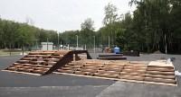 Строительство скейтпарка в Центральном парке., Фото: 7