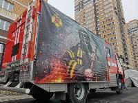 Тульские пожарные провели соревнования по бегу на 22-этаж, Фото: 21