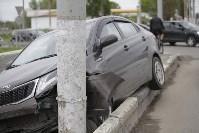 """""""Киа"""" врезалась в столб на Пролетарском мосту, Фото: 6"""