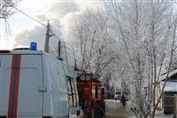 Пожар в жилом бараке, Щекино. 23 января 2014, Фото: 30