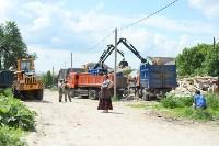 В Плеханово начали сносить дома в цыганском таборе, Фото: 20