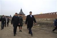 16 октября Владимир Груздев проконтролировал ход работ по благоустройству набережной, Фото: 11