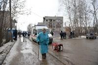 У дома, поврежденного взрывом в Ясногорске, демонтировали опасный угол стены, Фото: 1