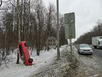 Под Тулой Opel «залез» на дерево, Фото: 1