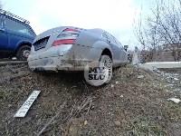 В Туле Mercedes повалил фонарный столб, Фото: 8
