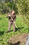 В Пролетарском районе высадили молодые деревья, Фото: 11