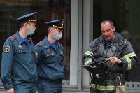 Учения МЧС: В Тульской областной больнице из-за пожара эвакуировали больных и персонал, Фото: 19