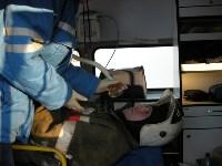 В Щекино спасатели ликвидировали последствия условного ДТП, Фото: 3